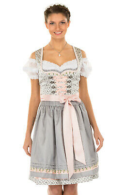 Krüger Dirndl Mini Dirndl 2 Parts Daisy Light Grey 50cm