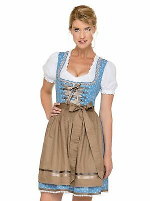 Stockerpoint Mini Dirndl 2tlg. 50 cm Babsi Light Blue Braun
