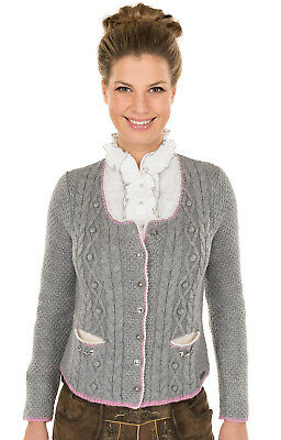 Spieth & Wensky Traditional Knitted Jacket Aida Light Grey Rosa