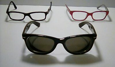 Authentic Ray-Ban Eyeglass Frames, Lot of 3, Vintage, Parts/Refurb Opportunity