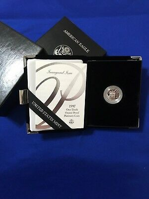 1997 - American Platinum Eagle Proof  - 1/10 oz. -  $10 with U.S. Mint Packaging