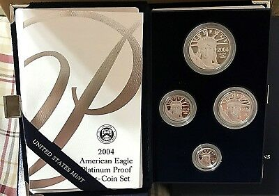 2004 - American Eagle Platinum Proof - Four Coin Set - with U.S. Mint Packaging