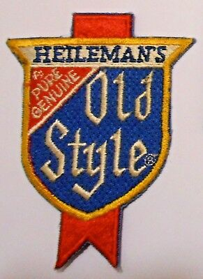 Old Style Beer Patch Embroidered Ale 3-3/4 inch Vintage Heilman