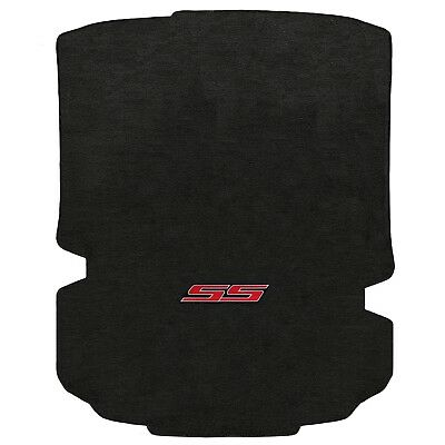 "Lloyd Mats Chevy Camaro Red ""SS"" Logo Ebony Velourtex Trunk Mat Set (2016-2018)"