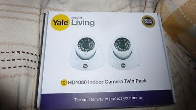 Yale HDC-402W smart living HD1080 indoor camera twin pack HD CCTV system
