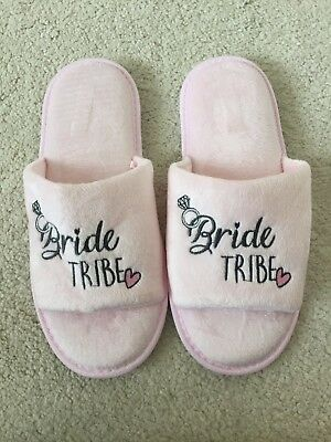 """Bride Tribe"" Slippers ,never Worn"