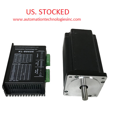 US Ship 1 Axis CNC Kit 1805oz.in Nema 34 Stepper Motor & Driver CNC Mill Router