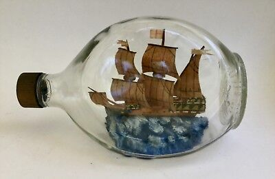 Vintage Haig Pinch Bottle Ship In a Bottle Scotland