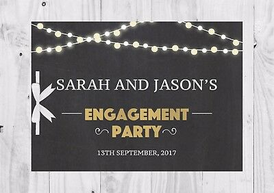 PERSONALISED Guest Book, Chalkboard, Lights, Engagement Party, Bridal Shower