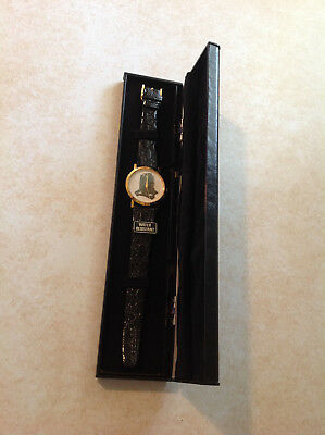 Rare Vacuum Cleaner Watch 18 KT Gold Plated Case Image Creations Californi Japan