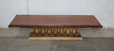 ANTIQUE WOODEN COFFIN Stand Vtg Casket Stand Cart Bier Gothic - Casket coffee table