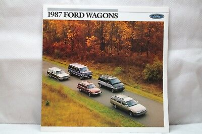 1987 Ford Wagons Showroom Brochure New Old Stock