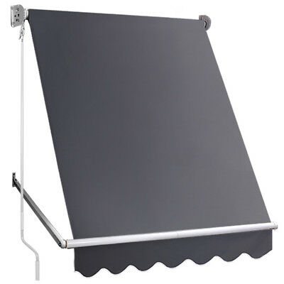 NEW Grey Retractable Fixed Pivot Arm Awning i.Life Outdoor - Accessories