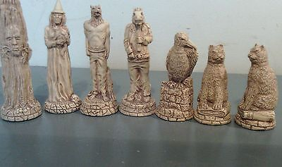 Witches Spell Wicca chess set latex moulds
