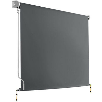 NEW Grey Retractable Roll Down Awning i.Life Outdoor - Accessories