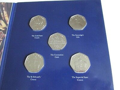 ISLE OF MAN - QUEEN'S CORONATION 65TH ANN 50p COLLECTION
