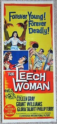 Leech Woman Original 1960 Aus Db Movie Poster Folded Coleen Gray Nm