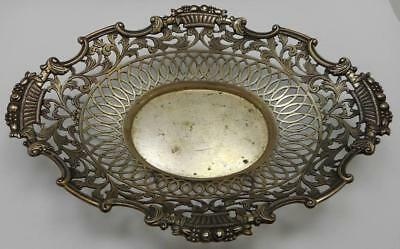 Antique DUTCH 833 Silver lace Candy Bowl/Tray - 1872