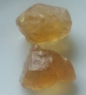 37 CT. Unheated GOLDEN YELLOW CITRINE  ROUGH.NATURAL FROM BRAZIL.