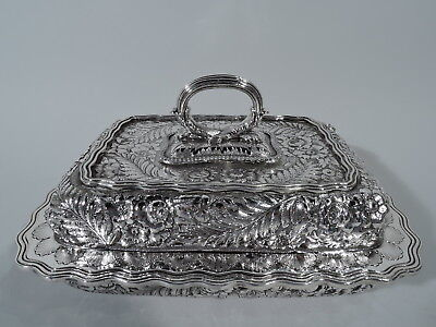 Tiffany Vegetable Dish - 6397 - Antique Covered Bowl - American Sterling Silver