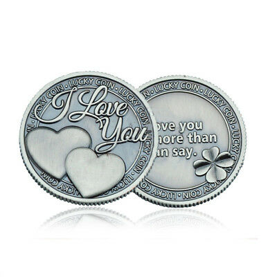 I Love You More Than I Can Say Coin-Silver Plated Toned- Lucky Hard Times Series