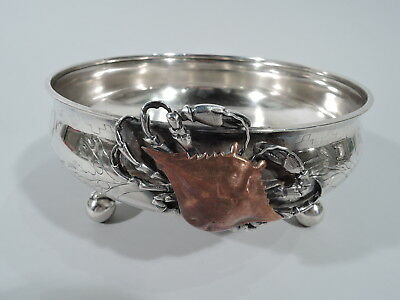 Whiting Bowl - 904D - Antique Marine Crab - American Sterling Silver Mixed Metal