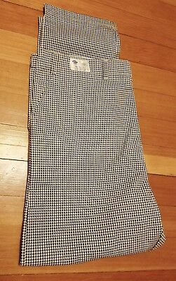 BEST Black White Checkered Houndstooth Chef Pants Uniform BIG TALL Waist 42-44