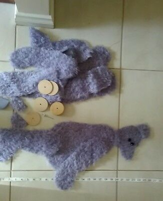 UNFINISHED DEBS TEDS MOHAIR BEAR - Cut out but NEEDS FINISHING - 23inches Approx