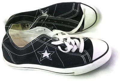 Converse One Star Womens Black Canvas Low Top Sneakers Size 7 M