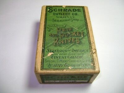 Early Antique Schrade Cutlery Co. Vintage Pocket Knife Advertising Box Only