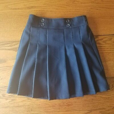 IZOD Kids' Girls' Size 16 Regular Navy Blue Pleated Uniform Skorts Polyester