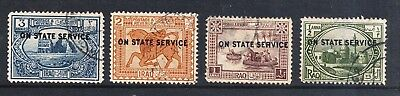 Iraq O/p On State Service Stamps Used