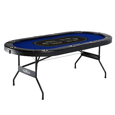 Texas Holdem Poker Table 10 Players with Padded Rails and Cup Holder Barrington