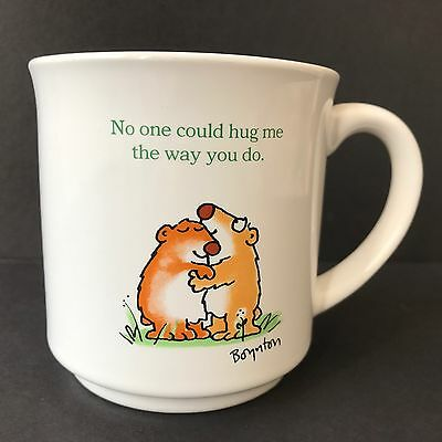 Sandra Boynton No One Could Hug Me the Way You Do White Ceramic Coffee Mug Cup