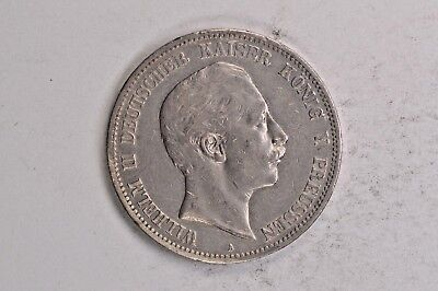 1901 Germany Prussia Silver 5 Mark .99c NO RESERVE
