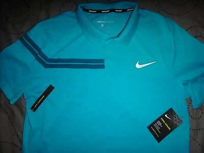 Nike Roger Federer Tennis Zonal Cooling Court Polo Shirt Size L Men Nwt $$$$