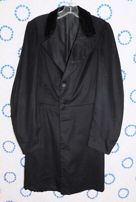Antique Mid19th c. 1850s/1860s Mens Quilted Lining Frock Coat Jacket