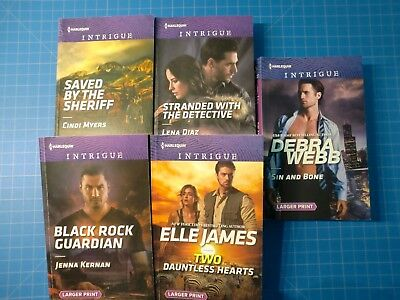 Lot of 5 Harlequin Intrigue ppbks Mint condition LARGE PRINT Myers Kernan James