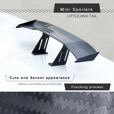 17cm Model Carbon Fiber twill Look GT Tiny Mini Rear Wing Spoiler Decoration