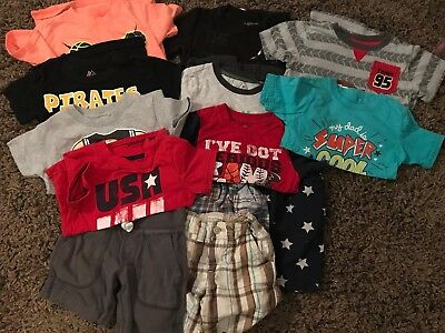 Toddler BOYS Summer Lot Of Shorts Shirts Size 3T