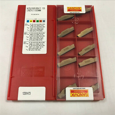 10pcs SANDVIK N123J2-0500-0004-TF1125 Carbide Inserts
