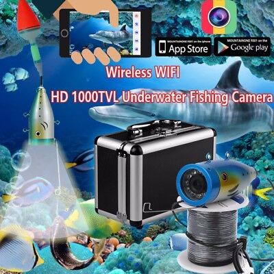 ENNIO Wireless 20M Under Water Fishing Waterproof HD 1000TVL Camera 2.4G WiFi Vi