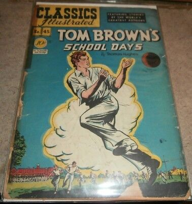 CLASSICS ILLUSTRATED Comic Lot 45 56 60 Tom Brown Toilers of Sea BLACK BEAUTY