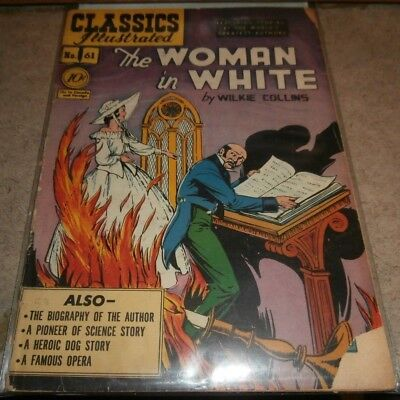 CLASSICS ILLUSTRATED Comic Lot 61 62 80 Woman White Western Stories WHITE FANG
