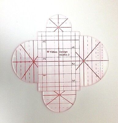 Clamshell (Half Circle) Quilting Template  (3mm)    HCIR4-3