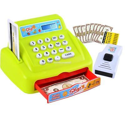 Electronic Cash Register Toy With Sounds Pretend Play Money Math Kids Shop FI 02