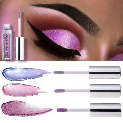 Eyeshadow Liquid Waterproof Glitter Glow Eyeliner Gel Shimmer Makeup 12 Colors