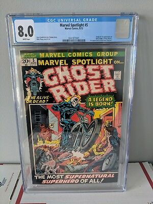 Marvel Spotlight 5 - 1st app of Ghost Rider, CGC 8.0 White Pages!
