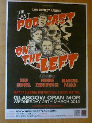 The Last Podcast On The Left - Glasgow march 2015 concert gig poster