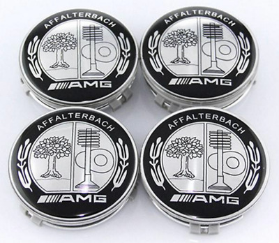 4 PCS 75mm / 3 INCH AFFALTERBACH AMG WHEEL BADGE CENTER CAPS FOR MERCEDES BENZ E